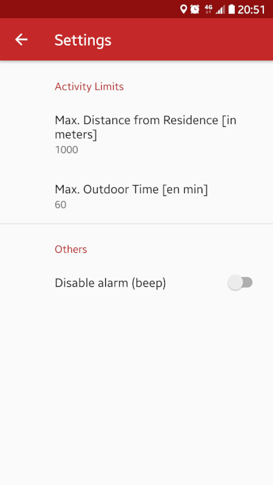 Lockdown Outdoor Limits Android Application - Outdoor activity limits during the COVID19 lockdown <br> https://play.google.com/store/apps/details?id=ro.gliapps.outdoorsportlimits