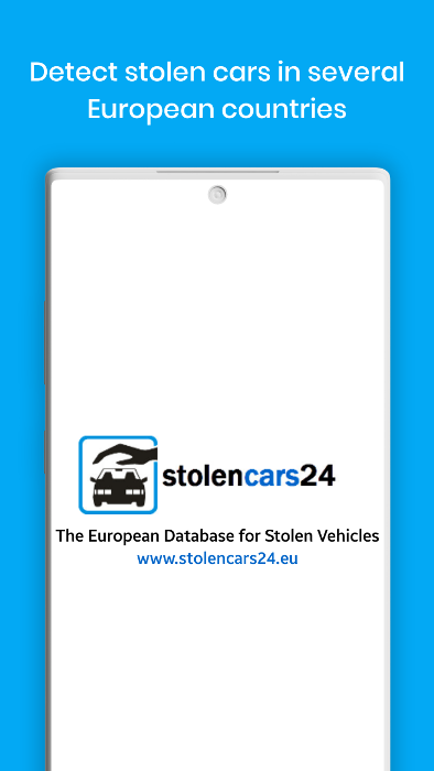 Stolen Car Europe Appliation <br> https://play.google.com/store/apps/details?id=eu.stolencars24.stolencars24